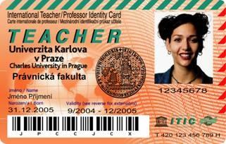 Průkaz zaměstnance Univerzity Karlovy
